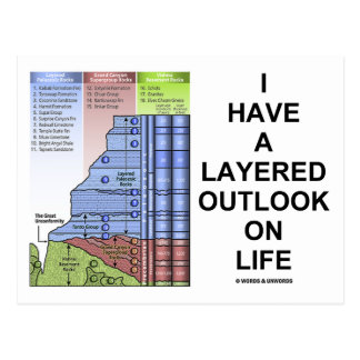 I Have A Layered Outlook On Life (Geology Humor) Postcard