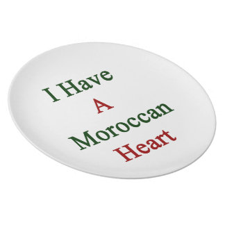 I Have A Moroccan Heart Plate