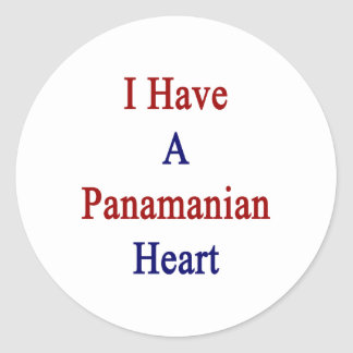 I Have A Panamanian Heart Classic Round Sticker