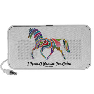 I Have A Passion For Color (Horse Color Swirl) Travel Speakers