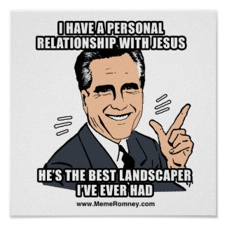 I HAVE A PERSONAL RELATIONSHIP WITH JESUS POSTER