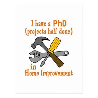 I HAVE A PHD POSTCARD