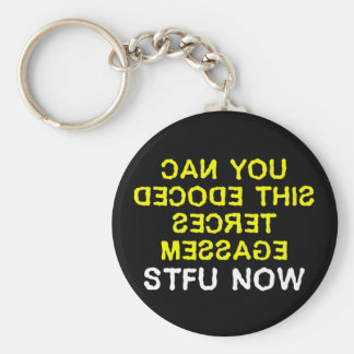I have a secret message for you to decode (2) key chain