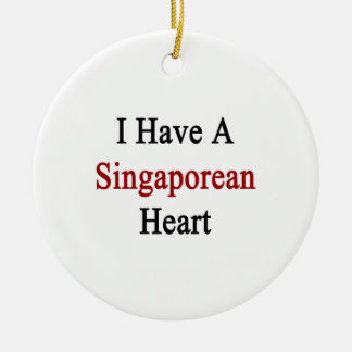 I Have A Singaporean Heart Christmas Tree Ornament