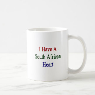I Have A South African Heart Coffee Mugs
