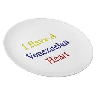 I Have A Venezuelan Heart Dinner Plates