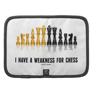 I Have A Weakness For Chess (Reflective Chess Set) Planner
