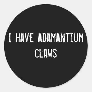 I have adamantium claws classic round sticker