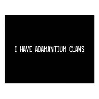 I have adamantium claws postcard