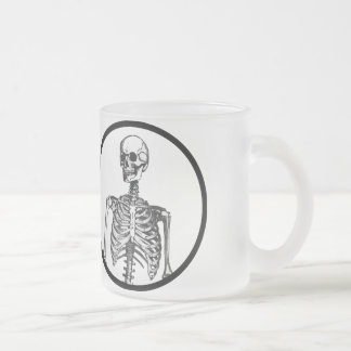 I have an actual human skeleton in my office frosted glass coffee mug