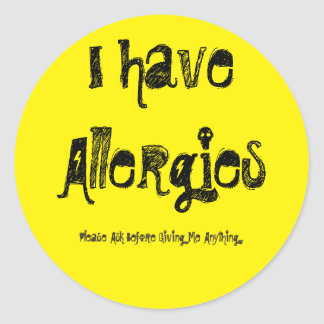 I Have An Allergy Sticker