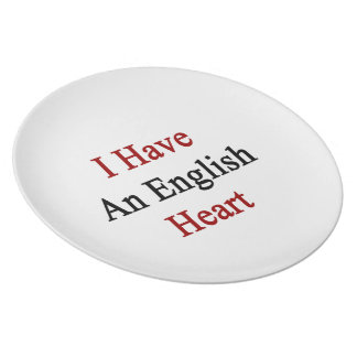 I Have An English Heart Plates
