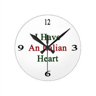 I Have An Italian Heart Clock
