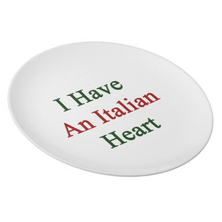 I Have An Italian Heart Party Plate