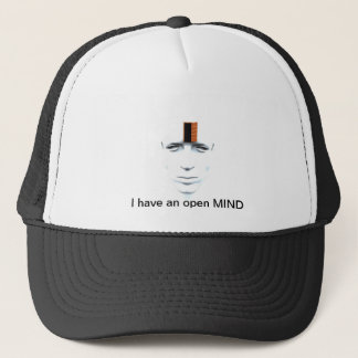I have an open mind trucker hat