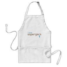 I have aspergers man adult apron