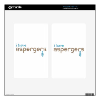 I have aspergers man decal for kindle fire
