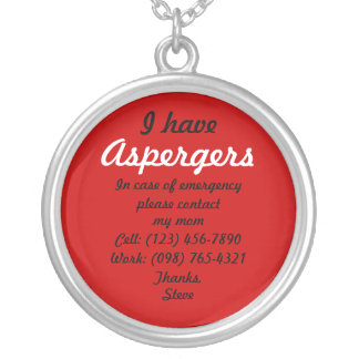 I Have Aspergers Necklace