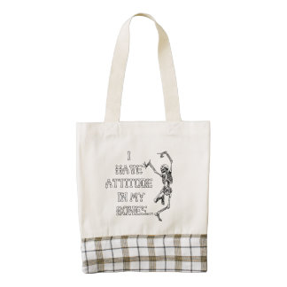 I have attitude in my bones zazzle HEART tote bag