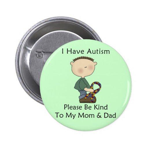 I Have Autism (boy) Button