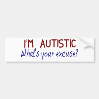 I Have Autism Bumper Sticker