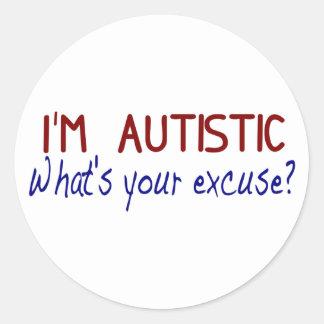 I Have Autism Classic Round Sticker