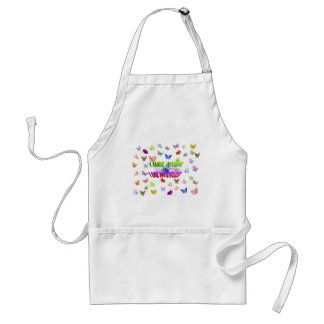 I have autism & I  like butterflies Adult Apron