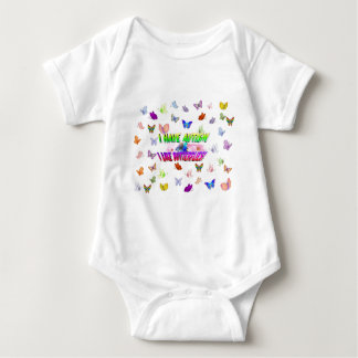I have autism & I  like butterflies Baby Bodysuit