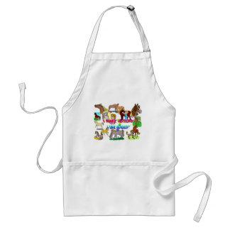 i have autism n like horses adult apron