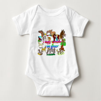 i have autism n like horses baby bodysuit