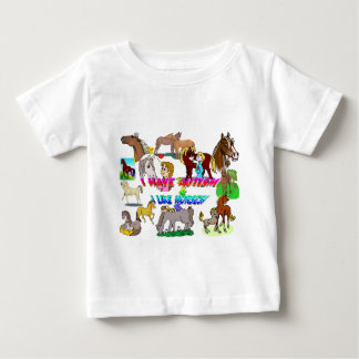 i have autism n like horses baby T-Shirt