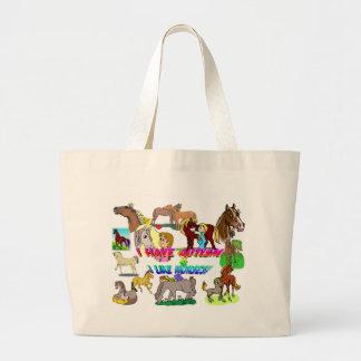 i have autism n like horses bag