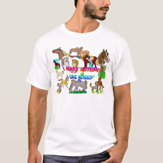 i have autism n like horses T-Shirt