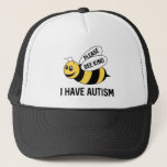 """I Have Autism Trucker Hat<br><div class=""""desc"""">Please Bee Kind I Have Autism - Autism Awareness</div>"""