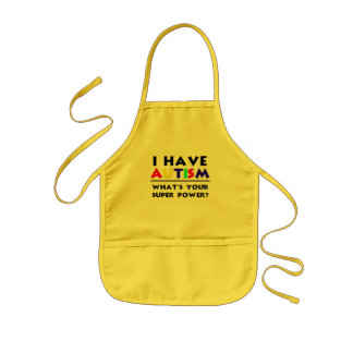 I Have Autism. What's Your Super Power? Kids' Apron