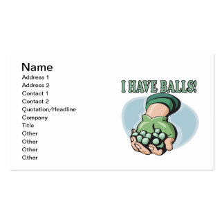 I Have Balls 2 Business Card Template