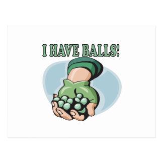 I Have Balls 2 Postcard