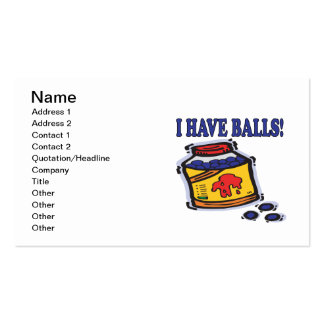 I Have Balls Business Card