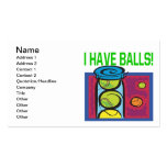 I Have Balls Business Card Template