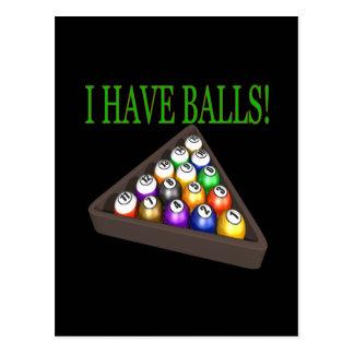 I Have Balls Postcard