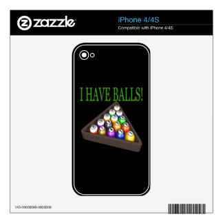 I Have Balls iPhone 4 Decal