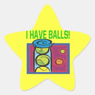 I Have Balls Star Sticker