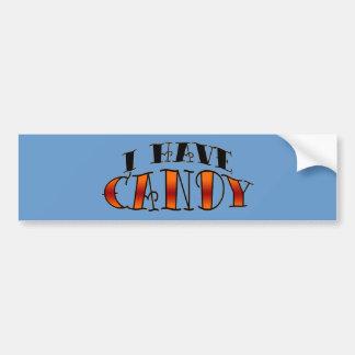 I have candy car bumper sticker