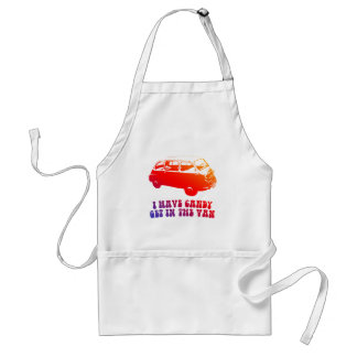I Have Candy, Get In The Van Adult Apron
