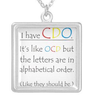 I Have CDO Square Pendant Necklace