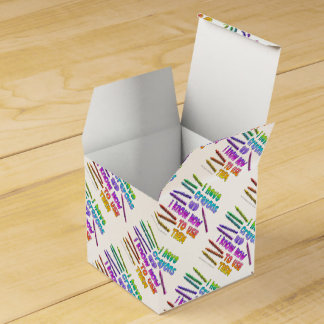 I HAVE CRAYONS AND I KNOW HOW TO USE THEM! PARTY FAVOR BOXES