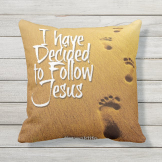 I HAVE DECIDED TO FOLLOW JESUS THROW PILLOW