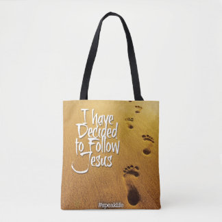 I HAVE DECIDED TO FOLLOW JESUS TOTE BAG