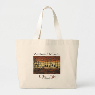 I Have Decided-Without Music, Life... Large Tote Bag