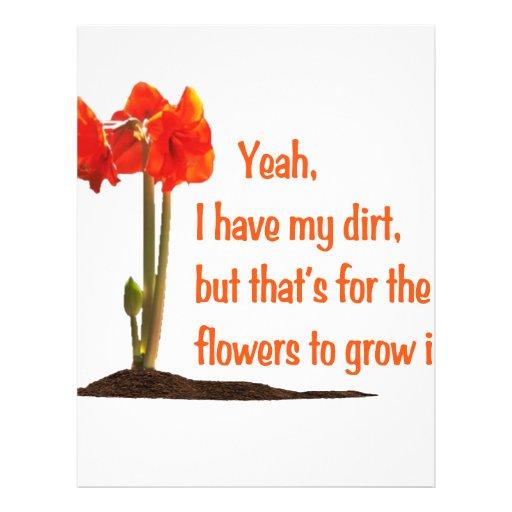 I have Dirt Letterhead